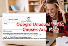 google unusal traffic